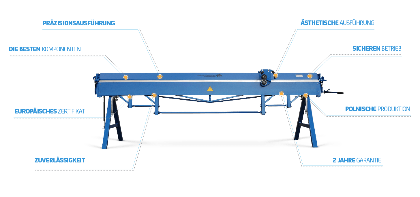 Metal plate folding and bending machines offered by Prod-Masz